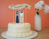 Personalized Wedding Shower Cake Topper   Engagement Party Cake Topper   Bridal Shower Cake Topper   Wedding Shower Decoration