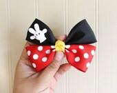 Minnie Mouse Hair Bow, Minnie Mouse Hair Clip, Disney Hair Bow, Mickey Mouse Hair Bow, Disney Hair Clip, Mickey Mouse Hair Clip, Red Hairbow