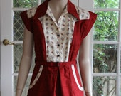 1940s Styled Vintage Reproduction Waitress / Bowling Dress