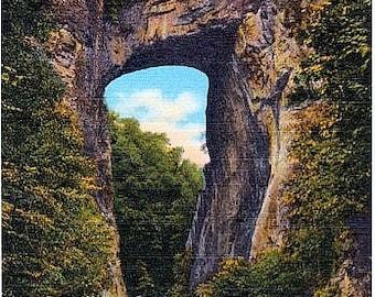 Vintage Virginia Postcard - The Natural Bridge (Unused)
