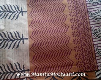 Indian Henna Printed Cotton, Block Print Saree Fabric, Sari Fabric By The Yard, Paisley Print Fabric, Block Print Fabrics, Unique Fabrics