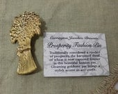 Vintage Carrington Sheaf of Wheat Prosperity Pin
