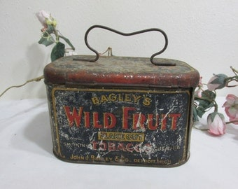 Tobacco Tin Bagley's Wild Fruit Flake Cut  view all pictures