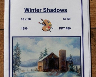 1999  painting pattern packet WINTER SHADOWS  Dorothy Dent 16 x 20