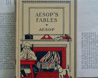 Beautiful Vintage Aesop's Fables Book by J.H. Sears and Company