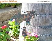Cow Decor / Garden Yard Art  / Metal / Copper / Plant Stake / Ornament / Memorial / Farm Animal / Cow Gift / Barnyard / Outdoor