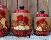 Gingerbread Ceramic Canisters RESEVERED for Farisdon