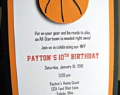 Basketball Party Invitations, Basketball Birthday Party, Basketball Invitation, Basketball Shower, Boy Basketball Invitation, Set of 12