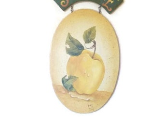 Hand Painted Sunshine Apple Plaque