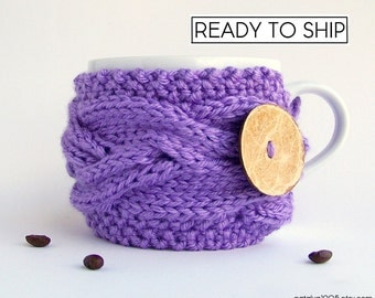 Coffee Cozy, Tea Cozy, Coffee Cup Sleeves, Coffee Gifts, Mug Cozy, Coffee Cup Cozy, Coffee Cup Sleeve Coffee Mug Cozy Coffee Sleeve Lavender