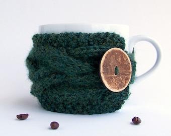 Coffee Cozy, Gifts Under 20, Coffee Mug Cozy, Tea Cozy, Coffee Cup Cozy, Coffee Cup Sleeve, Coffee Sleeve, Rustic Gifts, Stocking Stuffer