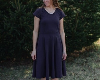 Womens Cotton Jersey Knit Dress Made in the USA - Made to Order - Ollie