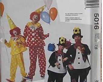 McCall's Pattern 5016 - Kid's Clown Costume Pattern Size 7-8