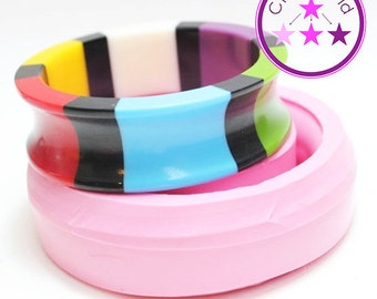 Bangle Mold Curved Bracelet Silicone Rubber Mold