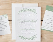 Instant DOWNLOAD Printable Wedding Invitation Template   Woodland Wreath   Word or Pages   MAC or PC   Editable Artwork Colors