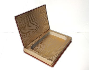 Hollow Book Safe Know Your Woods Cloth Bound vintage Secret Compartment Security hiding place