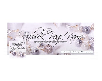 30% OFF SALE Timeline Cover and Profile Picture - Facebook Timeline Cover - Facebook Cover - Jewelry Facebook Cover -  Jewelry
