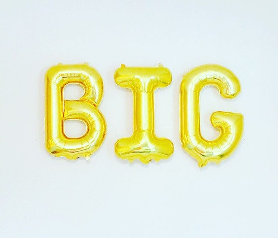 gold big balloon gifts for my big little big gifts by With greek letter balloons