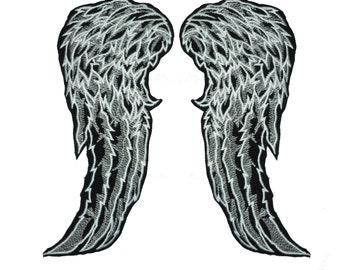 26cm / 10inch Daryl dixon the walking dead wings feather angel biker wing patch applique