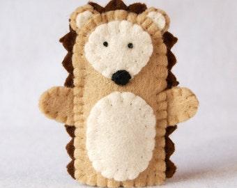 Hedgehog finger puppet, felt finger puppet, hedgehog felt finger puppet, finger puppet, hedgehog puppet, hedgehog