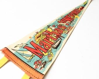 Vintage Martha's Vinyard Souvenir Felt Pennant