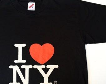 Vintage 'I Love New York' T-Shirt (Size: M)