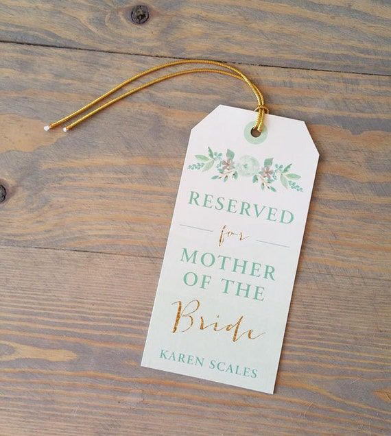 Reserved Chair Sign for Wedding Seating Plan, Chair Signs for Table Seating Chart, Wedding Place Card, Reserved Sign