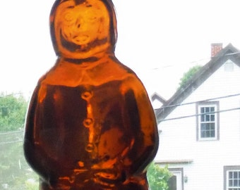 MRS. BUTTERWORTH'S Lite Maple Syrup BOTTLE, 24 ounce bottle,  Excellent condition, Brown Glass, Molded Bottle, Capped,Brown Syrup Container,