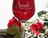 Wine glass for Brides, Bride Glasses, Red wine Glass, White Wine Glass, Stemless Wine Glass, Wedding Favor Cup, Reception wine glass, Bridal