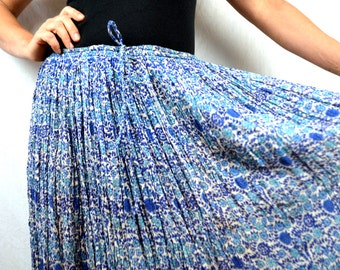 Vintage 1970s 80s Hippie Gauzy Cotton Broom Skirt