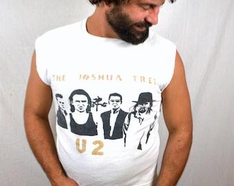 RARE 80s U2 Joshua Tree Cut off Sweatshirt