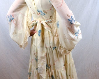 Amazing Vintage Gunne Sax Belled Sleeve Hippie Prairie Dress