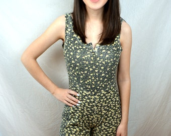 Vintage 80s Floral Fun Summer Romper - Made in Italy