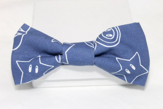 Blue Gaming Icon Bowtie, Video Game Bow Tie, Geek Bowtie, Gamer Bow Tie, Clip-on Bow Tie