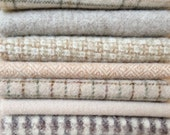 Felted Wool, 10in.x 10in. - Light Colored Wool, Neutrals - for Applique, Penny Rugs and Sewing Projects / B1005