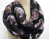 Elephant pattern Scarf Elephant Shawl animal print scarf holiday Boho Geometric Gift Wrap