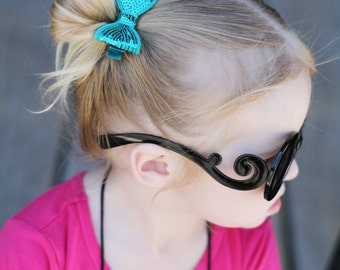 Teal Sequin Hair Bow, Girl's Sequin Hair Bow, Girls Hair Bow, Toddler Teal Hair Bow, Baby Hair Bow, Girl's Hair Accessories, Blue Hair Bow