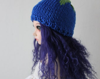 """Cute Blueberry hat for Minifee or other 7-8"""" head doll"""