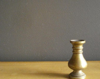 Mini Vase - Teeny Tiny Vintage Brass Vase - Miniature Brass Vase
