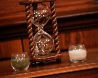 Heirloom Wedding Hourglass - The Legacy Walnut Wedding Unity Sand Ceremony Hourglass