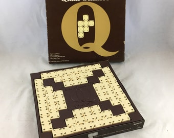 Quad-Ominos. 1978 Vintage Ultimate Domino Game. Complete- Good Condition. Pressman Games. Dominos, Matching, Skill Game. Family Game Night