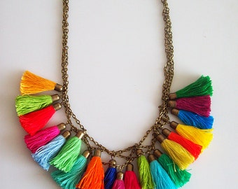 Fun in the Sun Tassel Necklace
