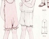 UNCUT 1930's McCall Pattern No. 5034 - Adorable Children's Undergarments Printo Gravure Sewing Pattern  Size 10 Girls