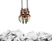 Small Tiger necklace No. 2, warrior tiger necklace, animal jewelry, tiger jewelry, wild cat - PLASTIC