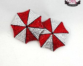 Umbrella Corp Inspired Rhinestone Nipple Pasties - SugarKitty Couture