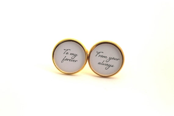 Cufflinks, Mens Cuff Links, To My Forever