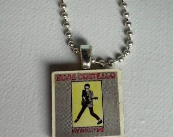 Elvis Costello My Aim is True Pendant - Unique Musician's Necklace