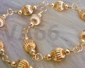 Wire Wrapped Balls 14K Gold Filled Bridal Anklet Bali Beads Handmade  Bride, Bridesmaids 925 Sterling Silver MOB, Prom, birthday Girlfriend
