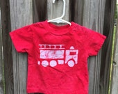 Fire Truck Shirt, Kids Fire Truck Shirt, Boys Fire Truck Shirt, Girls Fire Truck Shirt, Red Fire Engine Shirt (18 months)