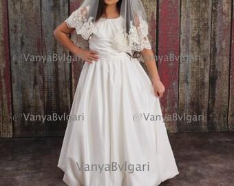 Flower girl's veil, First Holy Communion veil, Baptism veil, Lace veil for church, Confirmation veil, Catholic veil, church veil